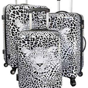 Warenhandel König , Set di valigie  multicolore Graphic Leopard M L XL