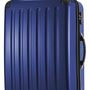 HAUPTSTADTKOFFER – Valigia Rigida Alex, 4 Doppie ruote, TSA, Taglia 75 cm, 119 Litri, Colore  Blu scuro