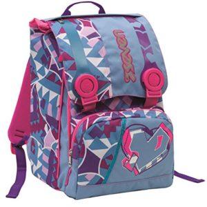 Zaino scuola sdoppiabile Big – SEVEN LOLLY – estensibile 28 LT – Azzurro Rosa – elementari e medie