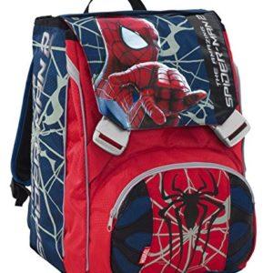 Zaino scuola sdoppiabile BIG bambino Marvel – The amazing SPIDERMAN 2 – con Gadget orologio – estensibile 28 LT uomo ragno spider-man