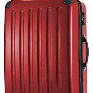 HAUPTSTADTKOFFER – Valigia Rigida Alex, 4 Doppie ruote, TSA, Taglia 75 cm, 119 Litri, Colore  Rosso