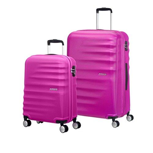 American Tourister Valigia nero Pink S und L