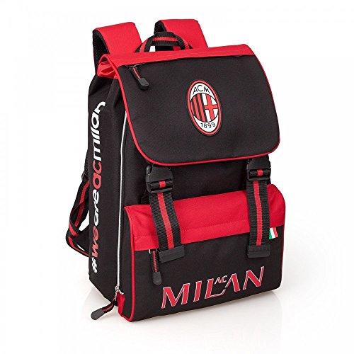 Zaino Scuola Estensibile Ac Milan scolastica tifosi calcio *24100