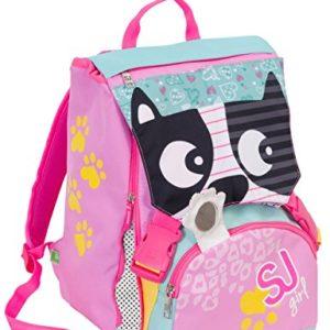 Zaino scuola sdoppiabile – GIRL – Animali da SJ – FLIP SYSTEM – 28 LT 3 pattine sfogliabili elementari e medie